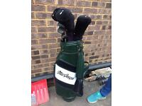 Golf Bag (leather) plus clubs