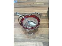 Silver and glass jam server