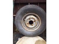 "10"" Mini steel wheel with tyre"