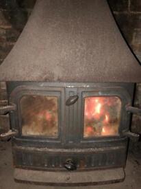 Villager wood/log burner multi fuel stove fire