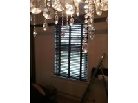 Dark brown real wood blinds with tapes x 3