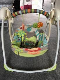 Bright Starts Safari Baby Swing