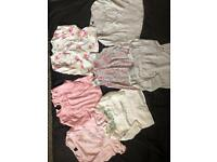 3-6 months baby girl tops x 7