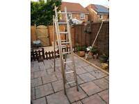 3 piece wooden ladders