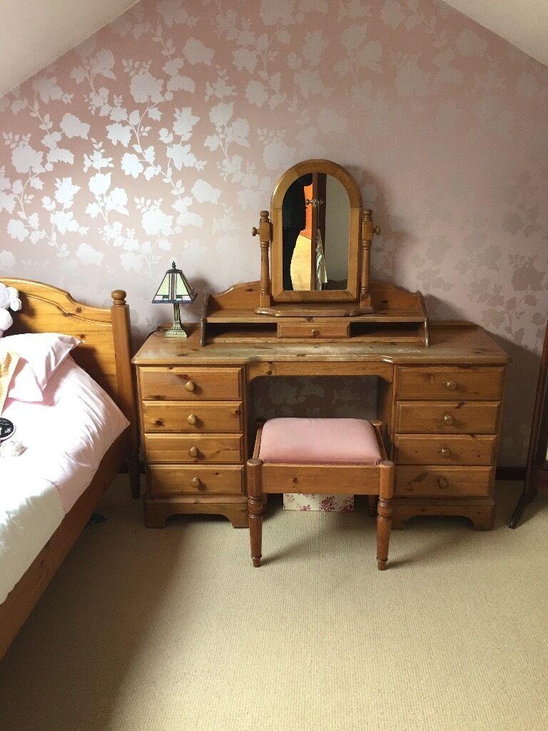 Pine Bedroom Stool Ducal Solid Pine Dresser Stool Additional Mantel Mirror Set