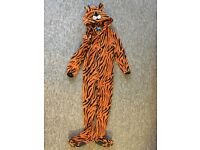 2 X Kids Onesies - Tiger and Reindeer - Age 7-8 - VGC