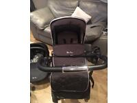 Silver Cross Wayfarer 3 in 1 Pushchair including Carseat, Isofix and Accessories