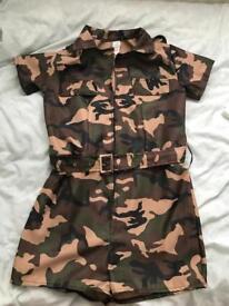 Army women fancy dress costume