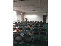 70 Black folding event chairs