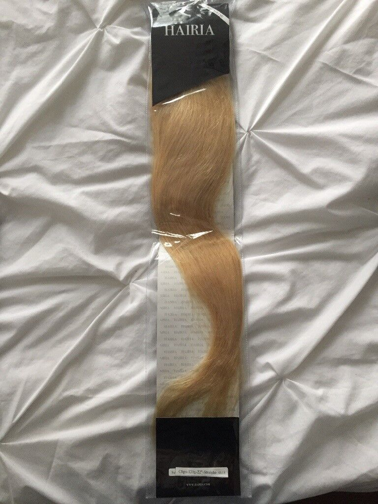 1 X Blonde Hair Extension Clip In 22 Platinum Blonde Colour In