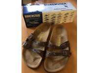 Boxed Birkenstock Ibiza Brown Leather Sandals Size 5, EU38