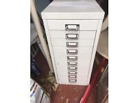 Metal Filing Cabinet 10 drawers