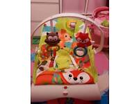 Unisex colourful baby bouncer