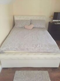 Double storage bed and the mattress