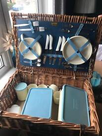 Brexton retro 1960's picnic basket set