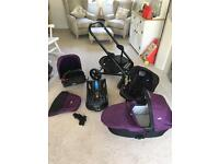 Joie Chrome DLX Travel System with Joie Gemm Car Seat - purple