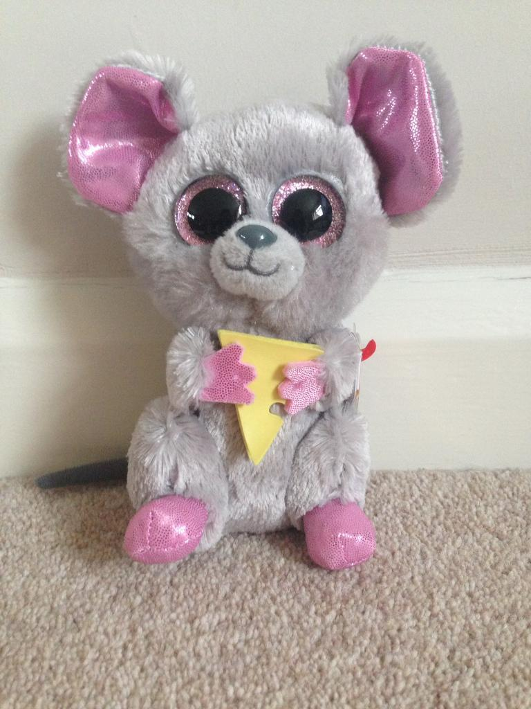 """TY beanie boo 6"""" plush Squeaker the mouse"""