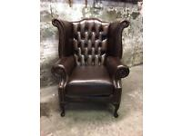 BRAND NEW Chesterfield Leather Wingback Amchair