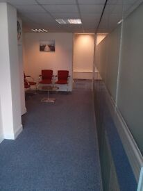 2 & 4 person serviced office space in Romford (RM1) inc bills and meeting room £48pp p/w