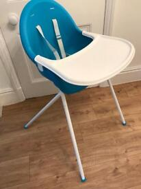 Mothercare high chair with tray
