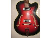 1960's MUSIMA 1655 GDR BASS GUITAR VINTAGE AND RARE