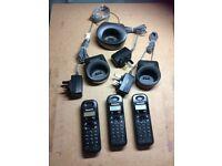 Panasonic Cordless Phone set-3 handsets- working order