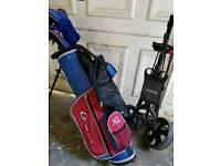 Junior Golf set and trolley
