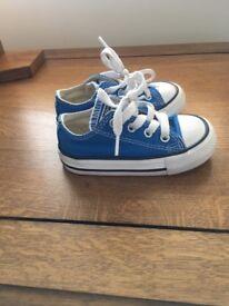 Blue size 5 converse