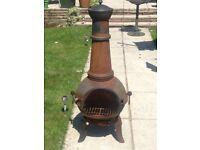 Chiminea patio heater burner