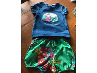 Next t shirt and shorts set , t shirt 3-4 , short 2-3 , up until 4 1/2 years old, ex cond £6