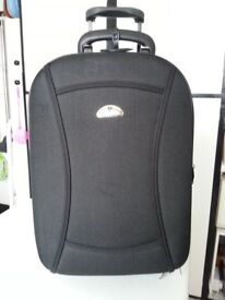 Suitcase on large wheels, with padlock & keys, expandable, very sturdy, immaculate.