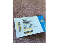 X1 ticket 1st July