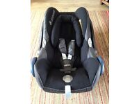 Maxi-Cosi Cabriofix Car Seat and waterproof cover for sale