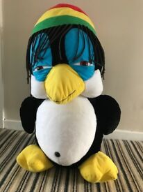 Jumbo Giant Jamician penguin dreadlock Soft toy