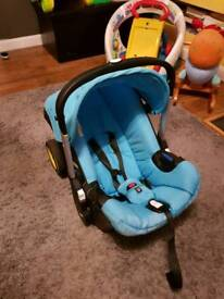 Blue DOONA car seat stroller