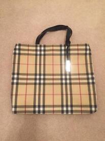 Genuine Burberry check print bag