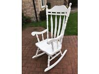 White wooden rocking chair from John Lewis