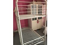 White metal bunk beds in brilliant condition