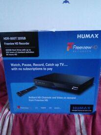 HUMAX FREEVIEW HD RECORDER. NEW, STILL IN BOX.