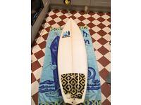 Quiver, stoke'a'pop, shortboard, surfboard 5ft8