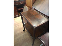 Mahogany Trolley , in good condition Size L 24in D 15in H 30in. Free local delivery.