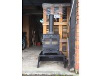 Arada Villager Chelsea Duo 5kW Multi Fuel Stove & matching Arada Log Store / Stand