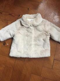 Baby girls Next fur coat