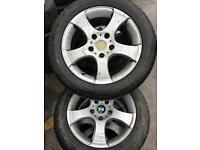 "16"" GENUINE BMW ALLOY WHEEL WITH TYRES 5x120"
