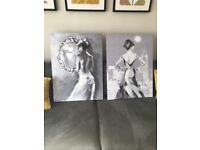 Grey wall canvas pictures