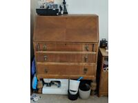 Vintage Pine Bureau | Writing Desk Sideboard Chest of Drawers Unit