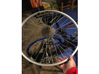 "26"" Mtb rear wheel with 8spd cassette"