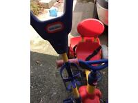Red blue trike by little tikes