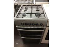 Silver beko 50cm gas cooker grill & double oven good condition with guarantee