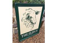 Pub Sign home bar man cave Yorkshire farming beer ale